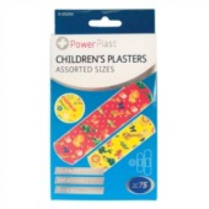 Assorted Children's Plasters - 75 Pack
